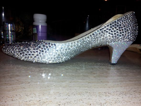 My DIY rhinestone shoes…need advice | Weddingbee Photo Gallery
