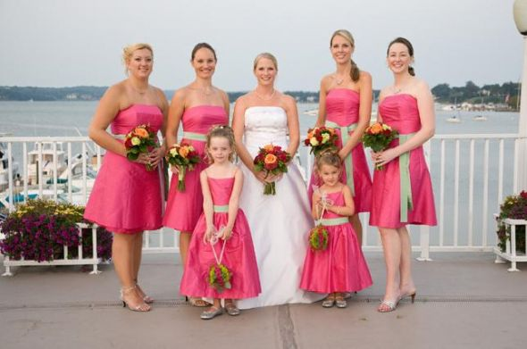 Floral or Pink & Green Bridesmaid Dresses for Spring Wedding