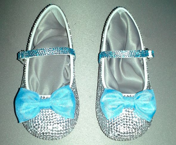 Bling Bride and Flower Girl Shoes