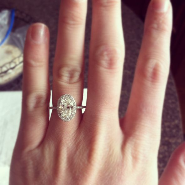 Nails Just Look Better With A Diamond Ring On Your Finger: Worried My Engagement Ring Will Be Too Big (diamond Wise