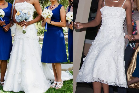Post Your Ceremony Dress And Reception Dresses!