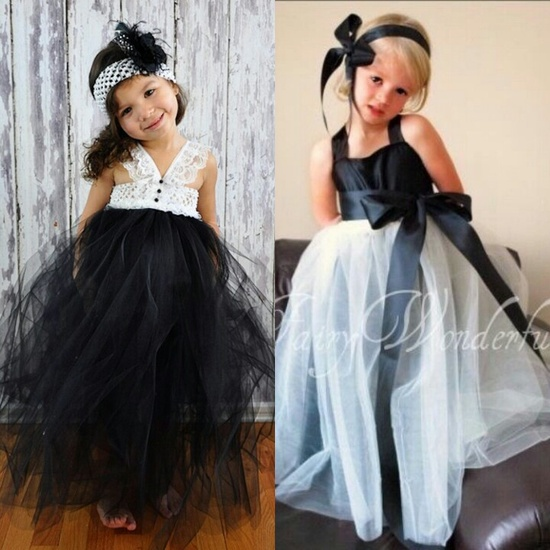Flower girl dresses without looking at the construction of the dress and with the info i provided would it be better to have the girls in 1 black skirt white top mightylinksfo