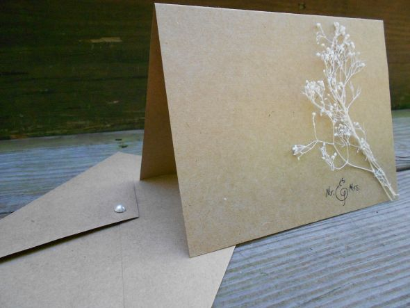 Wedding thank you card sets