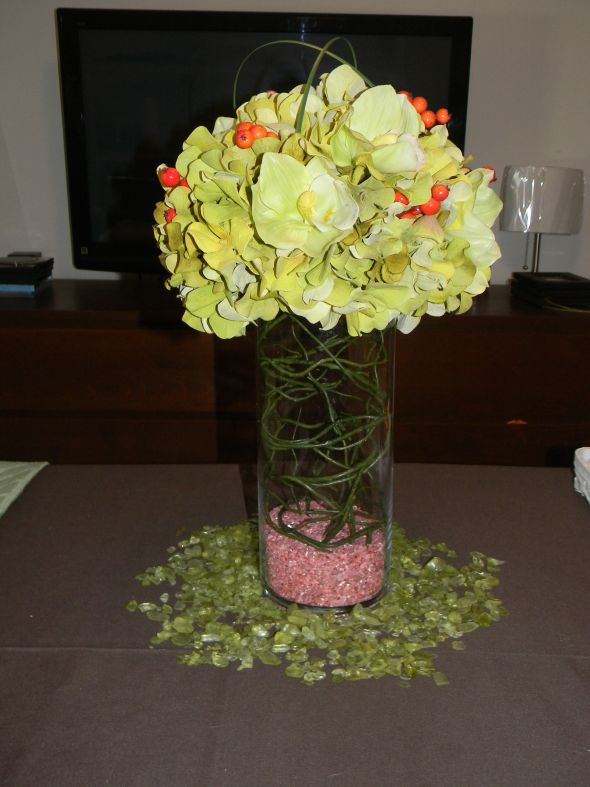DIY destination wedding centerpiece