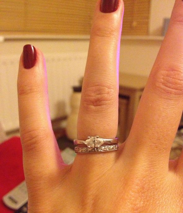East West Bands: Share Your Engagement Ring And Wedding Band Sets