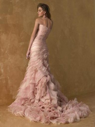 Blush wedding dress, cute or tacky??