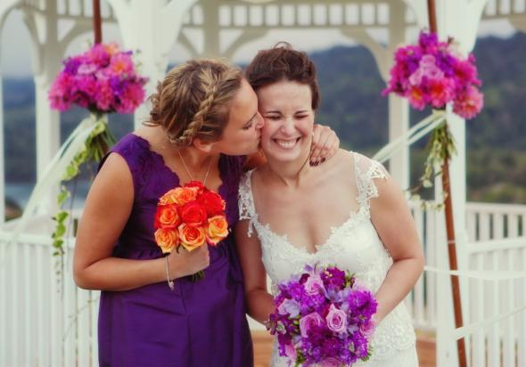 I had a purple wedding too It was a deep purple coupled with bright pops