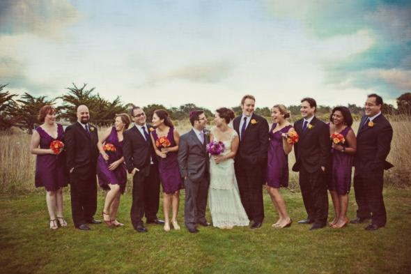 Purple weddings wedding purple Whole Bridal Party