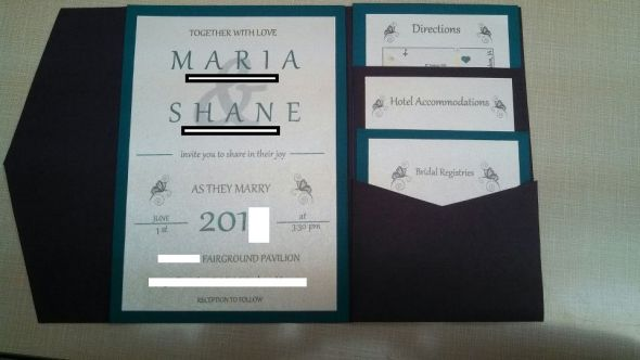 Our Wedding Invitations... I LOVE THEM!!!!