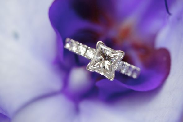 My engagement ring :  wedding engagement ring princess cut ring Ring