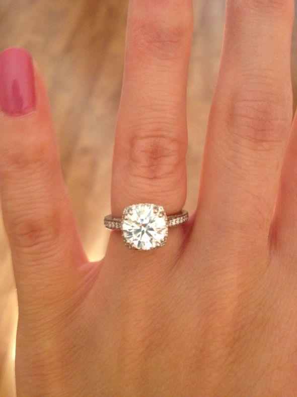 i m engaged my tacori dantela ring