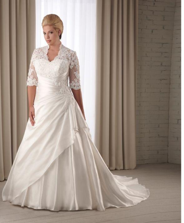 Свадебное платье больших размеров для