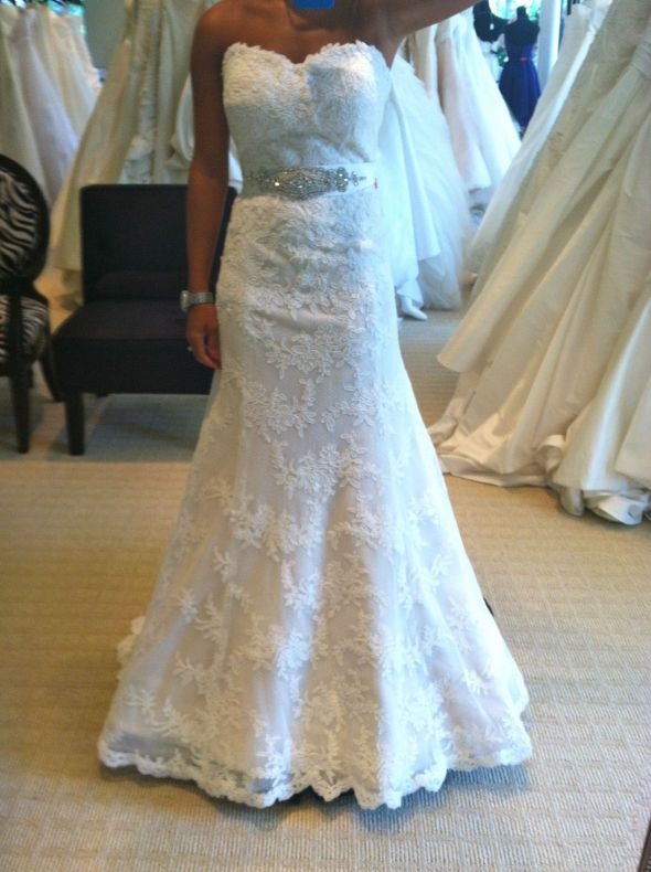 What sash/belt to wear with Pasadena Wedding Gown