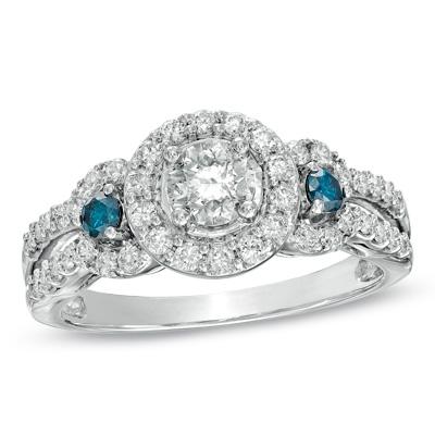 Let Me See Your Three Stone Halo E Ring Weddingbee