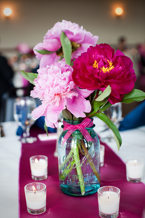 Peonies and Mason Jars