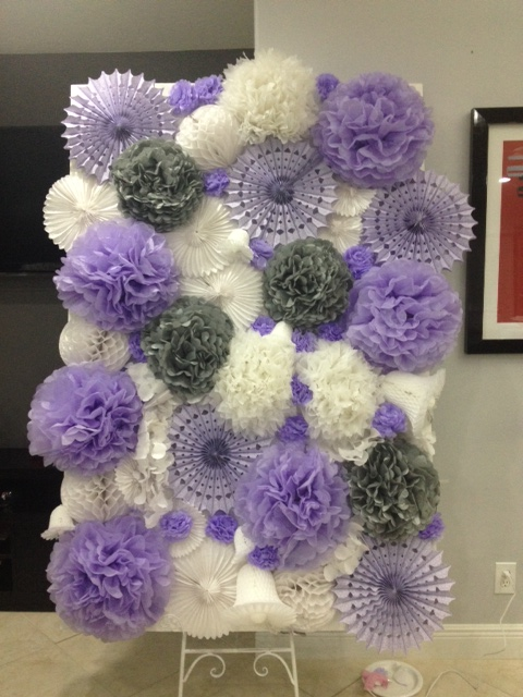 Our DIY Pom Pom Backdrop for Photobo