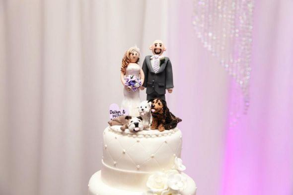 Mr. and Mrs. Tuned- Our Cake Topper