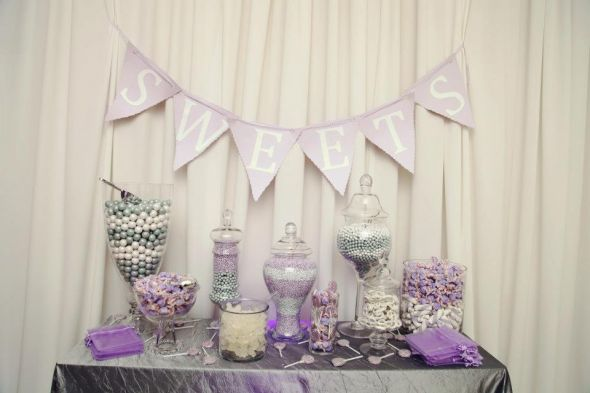 Mr. and Mrs. Tuned- Our Sweets Table