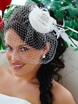 Side swept :  wedding side swept teal wedding hair Bird Cage Up Do Wedding Hair