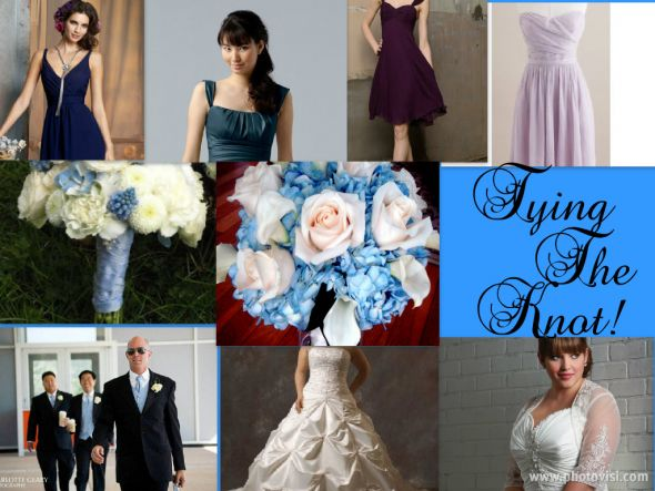 I've got the blues.....And purples and teal! :  wedding blue navy purple teal white TyingTheKnot