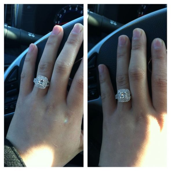 I got my 2 14 ct Vera Wang engagement certified appraisal and