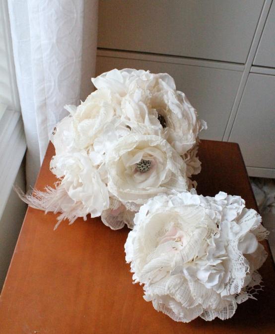 Fabric Flower Bouquet?? (Pics Inside)