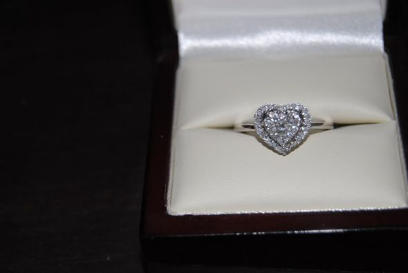 My beautiful heart shaped ring!! :  wedding engagement jewelry ring My Ring