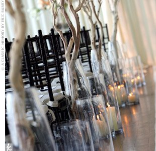 glass cylinder wedding