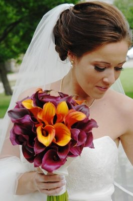 Reception Decor suggestions for my Purple and Orange fall wedding!