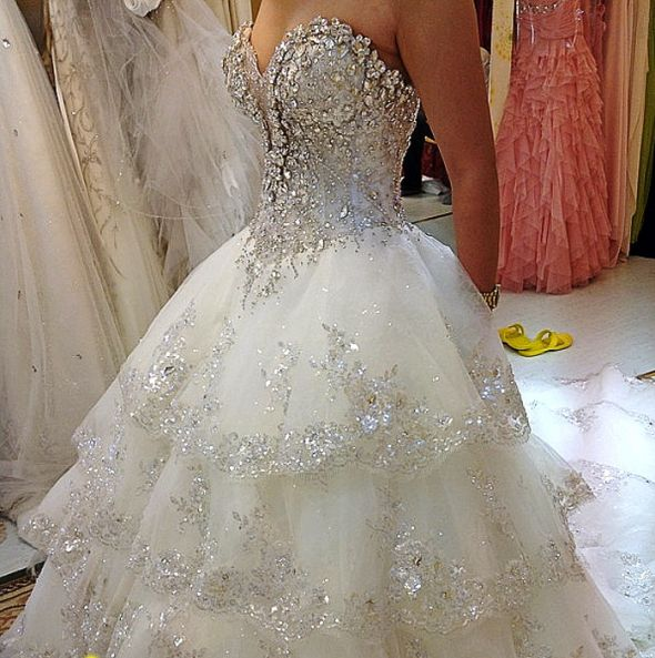 Wedding dress help weddingbee photo gallery for Bling princess wedding dresses