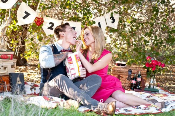 Vintage Themed Engagement Shoot! :  wedding beach photos diy diy engagement sign engagement engagement pictures inspiration ivory makeup pink vintage vintage picnic shoot 282834 513661391999370 1613451819 N
