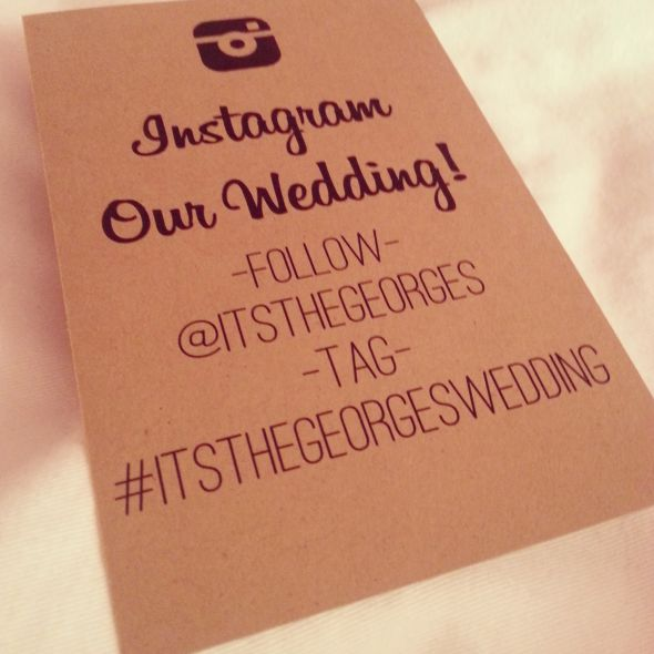 Instagram Our Wedding