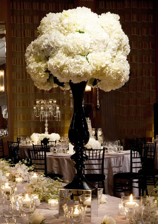 Black And White Wedding Reception Tables Quotes