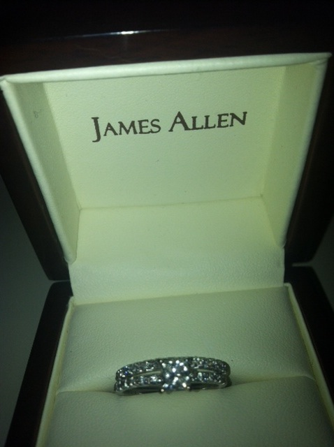 James Allen thin ring :  wedding ring Photo