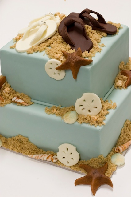 Beach wedding cake pic what do you think i love it junglespirit Choice Image