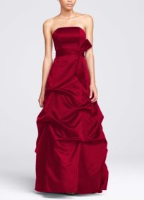 My girls' red bridesmaid dress!