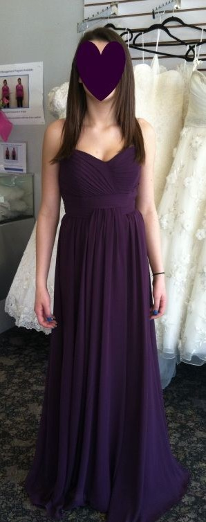 My ladies picked out their BM dresses! :) Bari Jay 322 in Eggplant