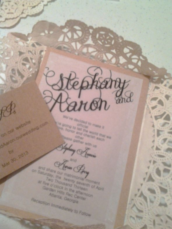 DIY Invitations (almost done)