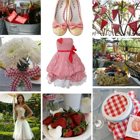 Wedding color help wedding Red Gingham Picnic Wedding