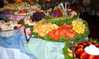 wedding reception buffet table ideas