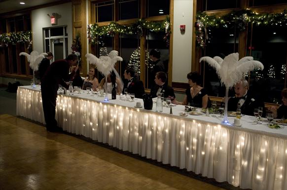 How To Head Table With Tulle Weddingbee