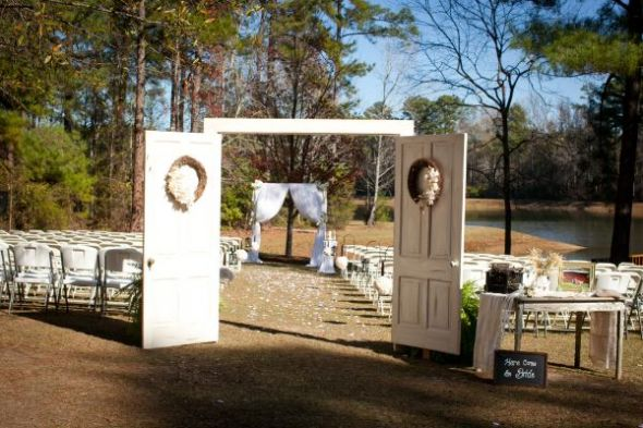 Outdoor wedding with long aisle « Weddingbee Boards