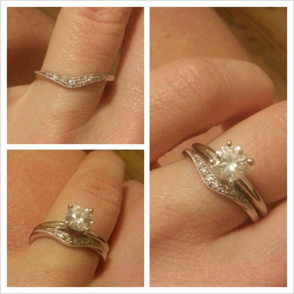 Curved Diamond Wedding Ring Wedding Dress Collections