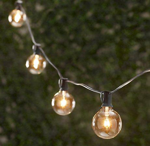 clear globe string lights & Wedding string lights u2013 outdoor decor (pic heavy)