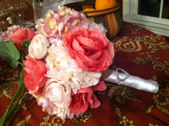 My DIY silk flower bouquet