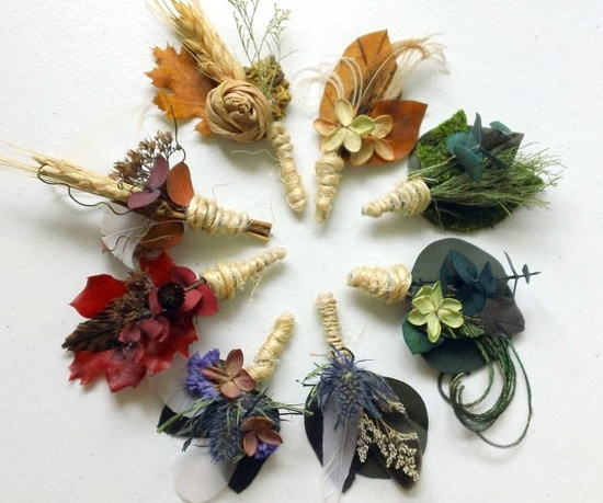 Dried flowers for autumn wedding