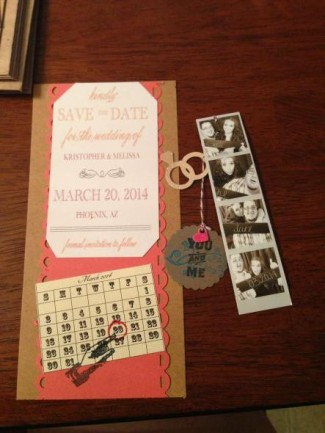 Our DIY Save The Dates and photo strips!!