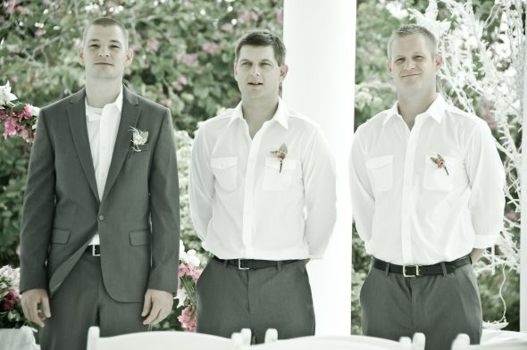 Grooms men attire at beach wedding wedding 1 year ago