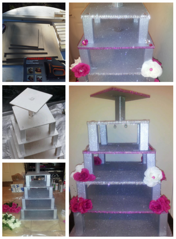 DIY wedding cupcake stand
