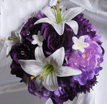 Which bouquets would work for a purple and silver wedding junglespirit Image collections